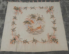 Antique Chinese Embroidery Qing Dynasty Birds Wall Hanging Panel