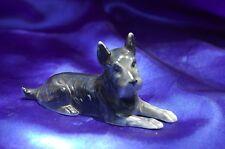 Vintage Porcelain Germany Black Brindle Scottish terrier dog Norwich terrier