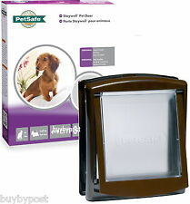 New Staywell PetSafe Cat Flap and Small Dog Door Brown 730