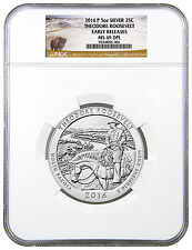 2016 25c 5 oz. Silver ATB Beautiful Theodore Roosevelt NGC MS69 DPL ER SKU42426