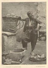 TURQUIE TURKIYE ISTANBUL MARCHAND DE MELONS BATELIERS BATEAUX IMAGE 1900 ?