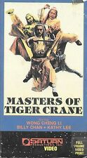 Masters of Tiger Crane (VHS) Rare Saturn Video SP Mode Release!