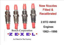 MITSUBISHI DELICA L400 2.8 TD 4M40 NEW INJECTORS SET OF 4 Years 93 To 1996