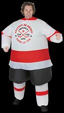 Funny Mascot HOCKEY PLAYER INFLATABLE INSTANT COSTUME-Airblown Fan-Unisex Adult