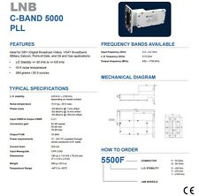 New Norsat 5500, C Band PLL LNB