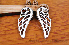 10PCs 25mm bird wing bracelet pendant Charm Tibet silver metal diy jewelry B7135