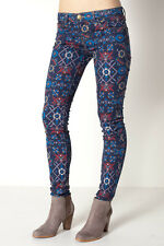 NWT CURRENT ELLIOT Sz25 THE ANKLE SKINNY-STRETCH JEAN GRAPHIC MIDNIGHT TAP $188.