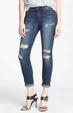 NWT  JOE'S JEANS Distressed Destroyed Skinny Ankle Jeans Sz 25
