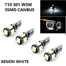 4x BMW 5 Series E60 E61 PRE LCI ANGEL EYE HALO RING T10 CANBUS HID LIGHTBULB LED
