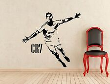 Cristiano Ronaldo Wall Decal Football Vinyl Sticker Art Decor Soccer Mural 405n