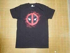Marvel Dead Pool Eyes and Head Medium Black T-Shirt