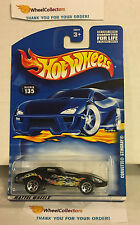 Corvette Stingray #135 * Black w/ 5sp Rims * 2001 Hot Wheels * K20