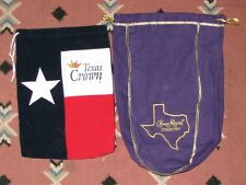 """crown royal bags  texas crown club & crown royal country """"TEXAS STATE OUTLINE"""""""