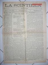 Z544-SICILIA-MESSINA GIORNALE LA SCINTILLA 1920