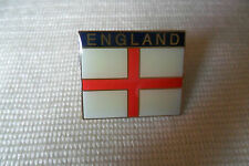 A nice England flag and name pin lapel badge,free u.k.p&p
