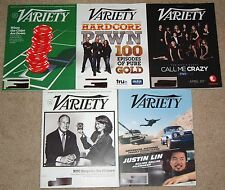 Variety Weekly Magazine 5 Issues From April 2013 - Entertainment Music Industry
