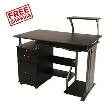 Small Computer Desk Storage Cabinet Home Office Workstation Compact Table Saver