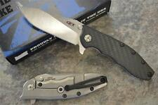 Zero Tolerance 0562CF Hinderer Flipper Knife w/ Carbon Fiber & CTS 204P Blade