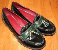 Black Patent Loafers Shoes Women's 7.5 M with Tassel Career Tommy Hilfiger