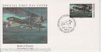 W17 4-2 MARSHALL ISLANDS FDC COVER 1990 BATTLE OF TARANTO 1940