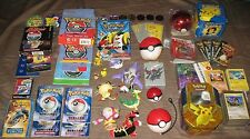 HUGE POKEMON LOT - Cards, Toys, Figures, Tin, Manuals, 23K Gold-Plated, Coins