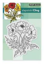 New Cling Penny Black RUBBER STAMP POPPY TRIO flowers poppies free usa ship