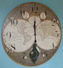 "Large 23"" A NEW MAP OF THE WORLD CLOCK Hanging Map Wall Clock Travel"