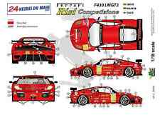 [FFSMC Productions] Decals 1/18 Ferrari F-430 LMGT2 Team RISI (LM 2009)
