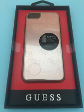 "GUESS 4G METALLIC HARCOVER / HARD CASE  FOR APPLE IPHONE 7  4.7"" ALUMINIUM PINK"
