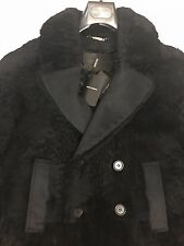 DOLCE & GABBANA FULL SHEARLING FUR & CASHMERE TRIM COAT RP £5880 42 UK 52 IT