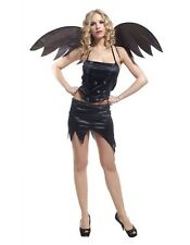 Adult Lady Sexy Gothic Angel Costume Skull Fairy Bat Girl Fancy Dress