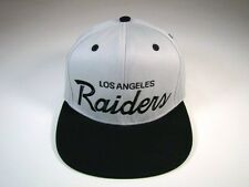 Los Angeles Raiders Snapback Hat Script Vintage Deadstock Gray Black Reebok