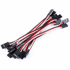 10pcs 10cm Quadcopter servo prolunga Futaba JR Maschio a Maschio Cavo UK