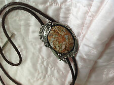 Bolo Tie with Sterling Silver Framing
