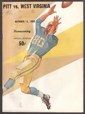 12/10/1960 Pittsburgh Panthers vs West Virginia Program w/Ticket Stub Mike Ditka