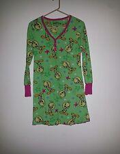 Tweety Bird Long Sleeve Nightgown Looney Tunes Fleece Sleep Shirt SZ SMALL 3 / 5