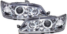Chrome clear finish headlights with angel eyes for Peugeot 306 93-97
