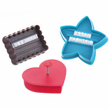 VonShef Cake Decorating Set Biscuit Cutter Cookie Press Personal Letter Stamp