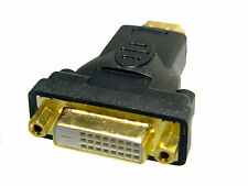 5 Pack DVI-D Female (24+1 pin) to HDMI Male (19 pin) Monitor HDTV Adapter, Gold
