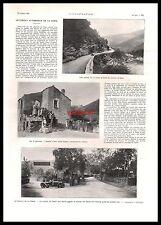 1921 - Doc.Ancien LE CIRCUIT AUTOMOBILE DE LA CORSE / COURSE AUTOMOBILE CORSICA