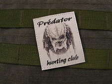 Patch Velcro - PREDATOR HUNTING CLUB - N/B AIRSOFT rambo ALIEN Paint Ball