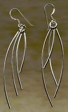 """sterling silver 925 stud drop earrings & pendant 18"""" trace chain NEW not scrap"""