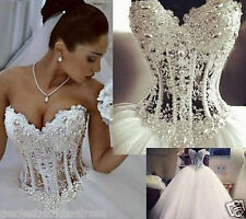 Sexy white/ivory Wedding dress Bridal Gown custom size2-4-6-8-10-12-14-16-18+++