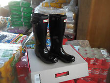 GLOSS HUNTER WELLIES WELLINGTONS IN HALIFAX SIZE 1  KIDS BLACK GLOSS
