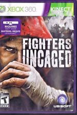 FIGHTERS UNCAGED --- XBOX 360 Complete CIB w/ Box, Manual