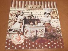4 Solo Papel Decoupage Servilletas. Vintage Niños, Chocolat diseño de la tienda - 37
