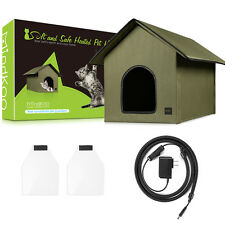 Mindkoo Portable Soft Heated Cat House Outdoor Pet House Collapsible Dog Shelter