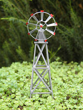 "Miniature Dollhouse FAIRY GARDEN Accessories ~ ½"" Scale Small Iron Windmill NEW"