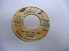 LYNDON I Love My Baby/Very First Time 45 RPM HI Records VG+ [Deep Soul] promo