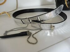 Gianni Versace Leather Belt Silver Snake / Ladies/Girls Diamonte Buckle Unique